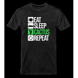 t-shirt Eat Sleep Cactus Repeat